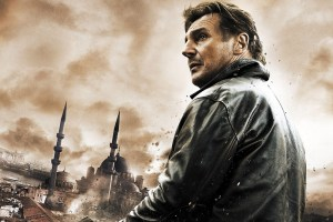 Liam Neeson's world seems to always look like this.