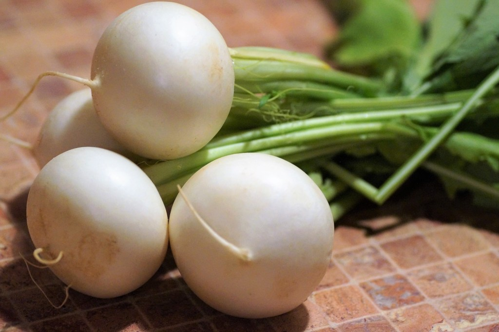 Turnips are a good green for protein and omega-3 fatty acids