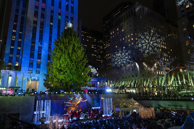 New York, NY - November 28, 2018: Atmosphere during 86th Annual Rockefeller Center Christmas Tree Lighting Ceremony at Rockefeller Center (Photo: Lev Radin)