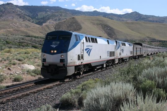 The California Zephyr runs from Chicago to Emeryville, California, which is about a half hour from San Francisco.