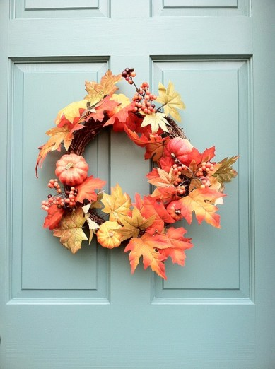 Wreaths are at the top of everyone's list for fall decor.