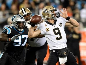 Thirty-nine year old Drew Brees is getting it done in The Big Easy.