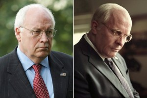 Christian Bale (on the right) looks uncannily like the real Dick Cheney (on the left).