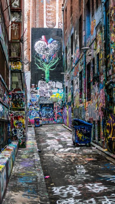 Graffiti is an art form that is illegal in most places, yet it persists and is still found all over cities and tunnels.
