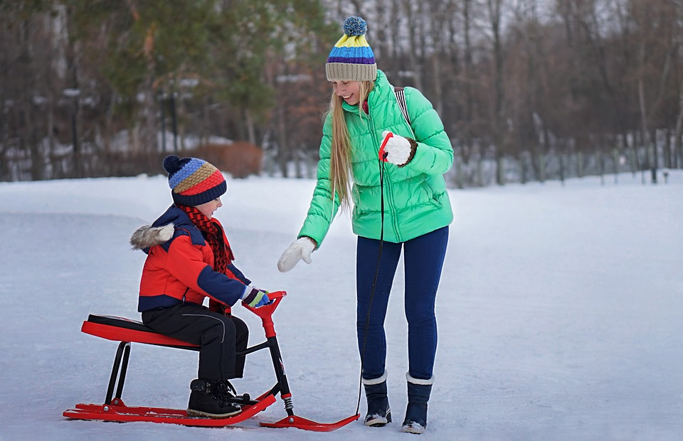 Getting your children involved in outdoor activities will help them enjoy the winter season and feel happy.