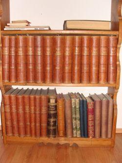 جانب من المكتبة والكتب القديمة
