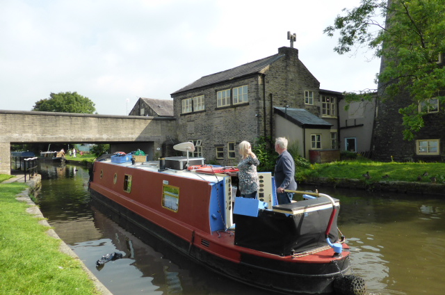Obliging owners who took us for a ride. (Cruiser stern)