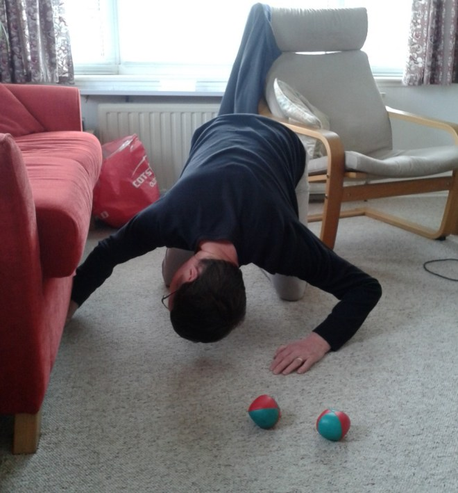 This is me juggling