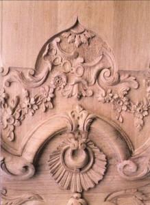 détail lambris Salle blanche du Palais de Justice de Douai