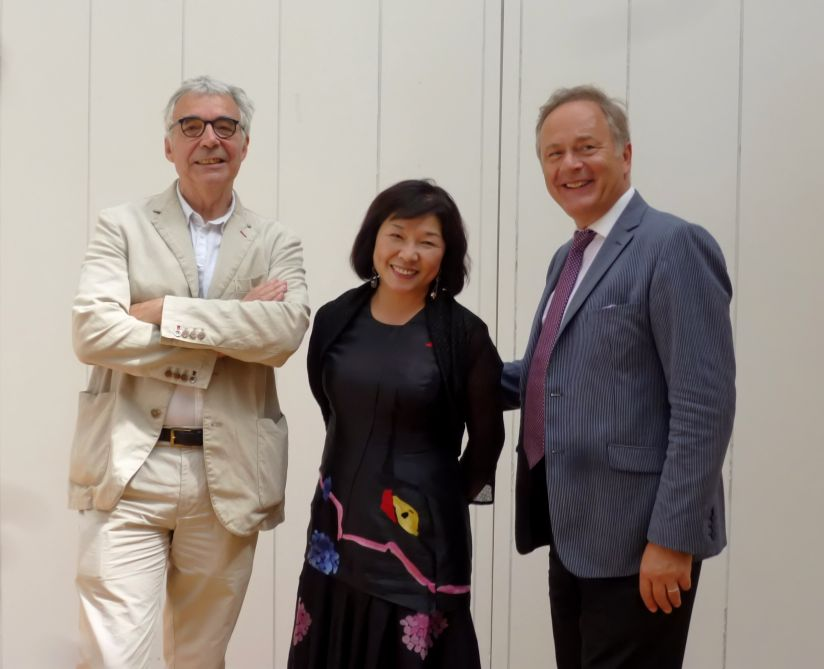 Daniel Imbert, Ling Ling Kuo et Gilles Perrault - rehabilitation square Barye 2014