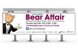 2012 Philadelphia Childrens Alliance Bear Affair Outdoor Board