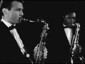 John Coltrane et Stan Getz (1960)