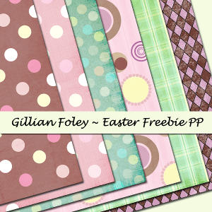 Easter Freebie Paper Pack Preview