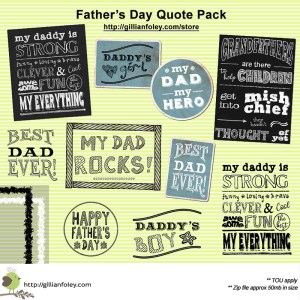 Father's Day Quote Pack