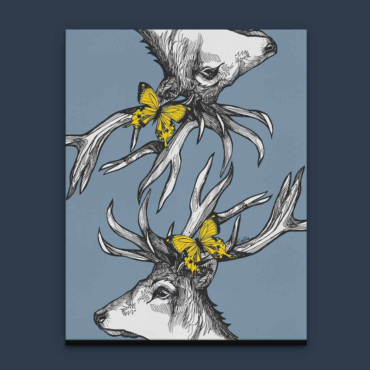 Mr Stags Reflection Scottish Wall Art And Canvas Prints By Gillian Kyle