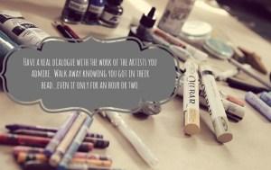 studyingunderthemasters artist quote