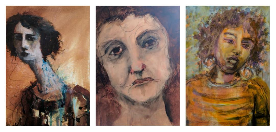 Gillian Lee Smith - Ink portraits by Kristina Solheim, Erin Santen and Sharon Jonquil