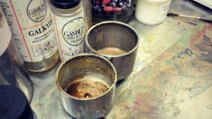 Oil Paint Set up by Gillian Lee Smith