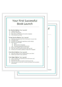 first successful book launch graphic