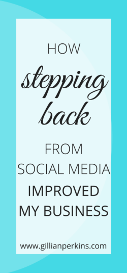 Who would have thought? LESS social media was actually the key to GROWING my business!
