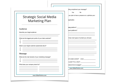 Social Media Marketing Strategy Worksheet