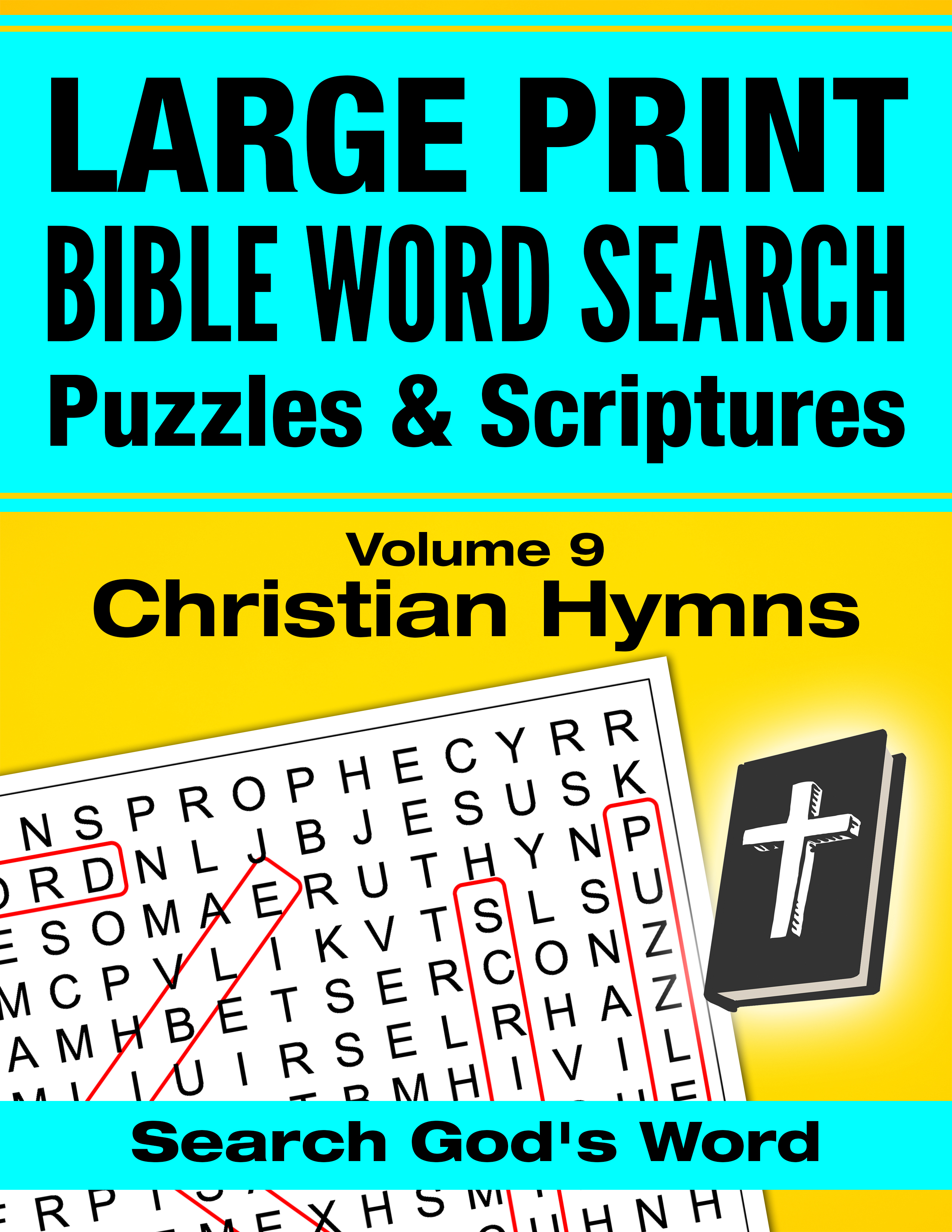 Large Print Bible Word Search Christian Hymns Puzzles