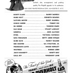 Inside the Playbill of the Broadway Play Best Foot Forward at the Ethel Barrymore Theater. Cast in Order of Appearance