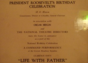 Gil gets to meet the President Franklin Delano Roosevelt at a command performance of Life With Father at the White House.