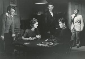 The Film the Dangerous Years with Ann E. Todd, Scotty Beckett, Harry-Harvey Jr., Dickie Moore and of course Gil Stratton in the background from 1947