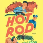 Copy of a picture of the Hot Rod film Poster (on a video cassette) starring James Lydon and Art Baker.