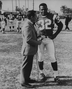 Gil Interviewing Jim (James Nathaniel) Brown, fullback for the NFL Cleveland Browns - once named as the greatest professional football player ever.