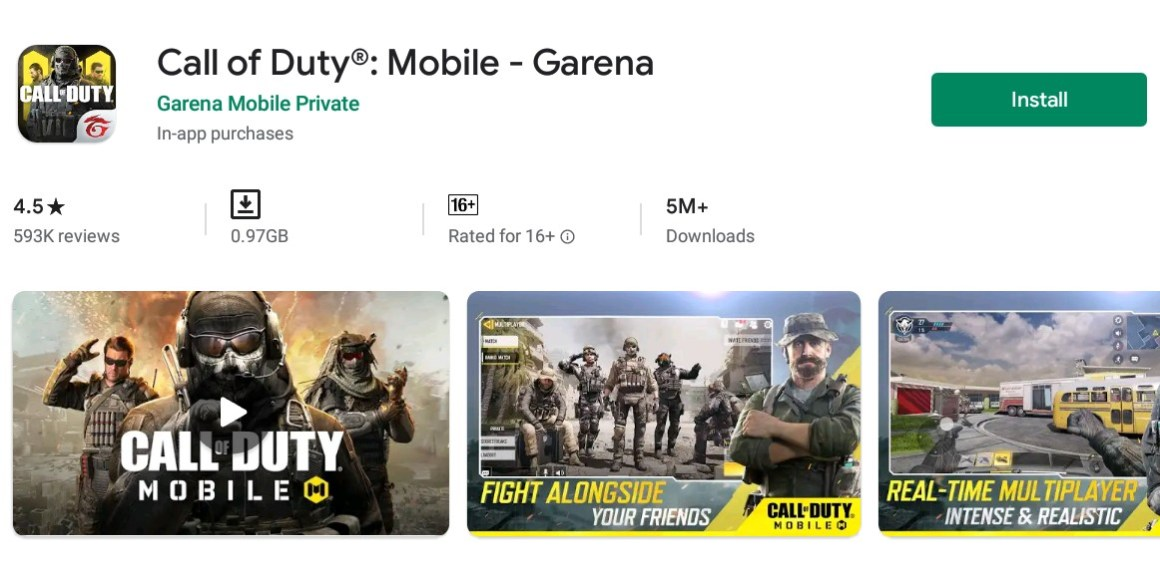 cod mobile google play store