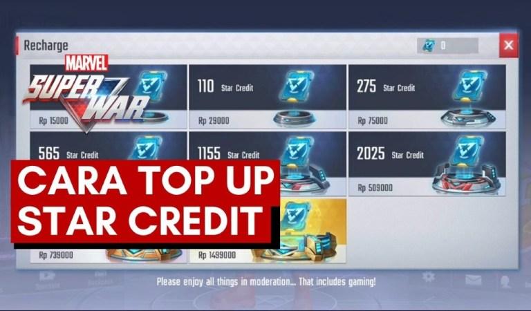 Cara <em>Top Up</em> Star Credit <em>Marvel Super War</em>
