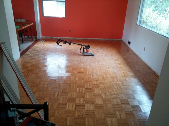 how to remove parquet flooring