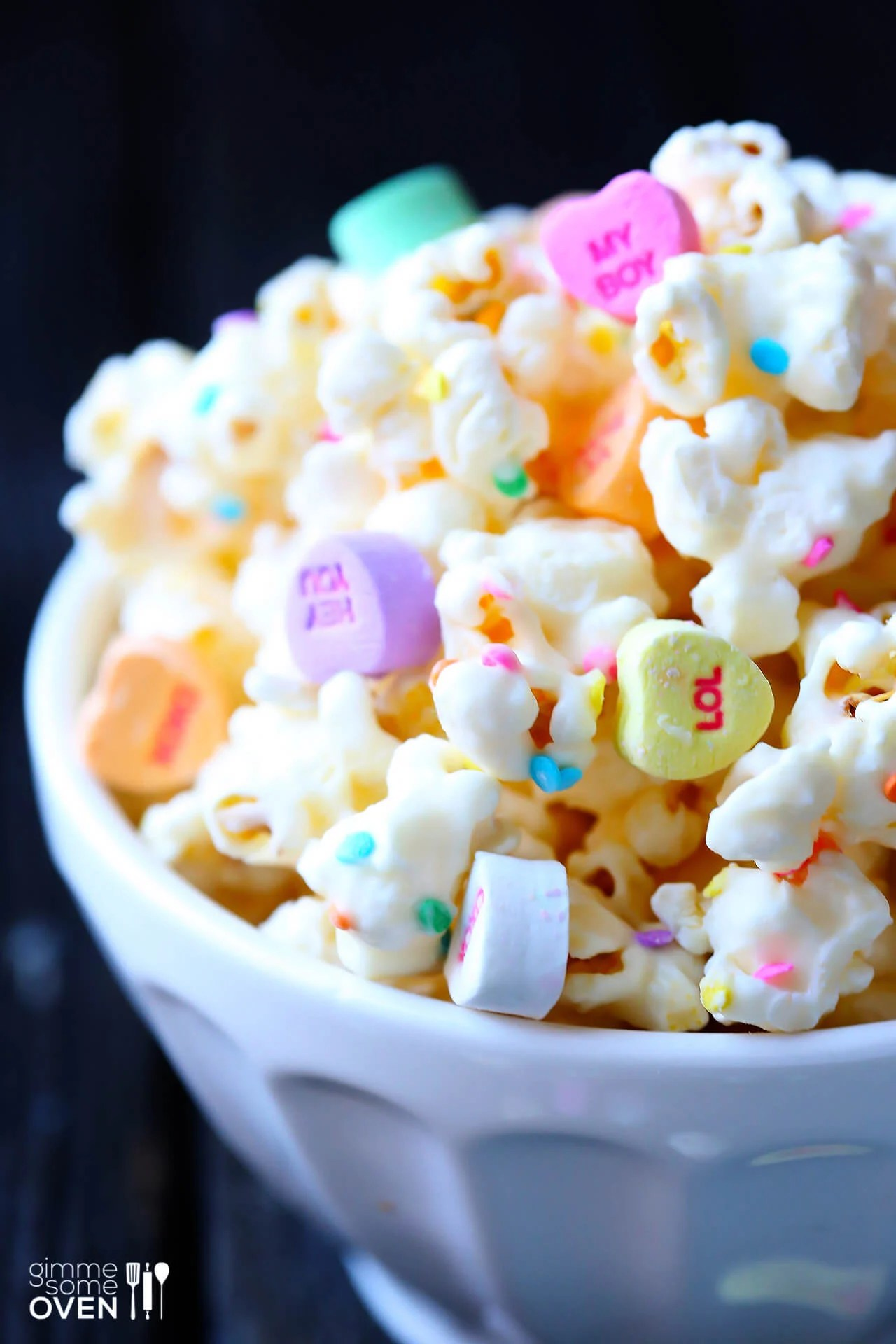 Valentines Popcorn White Chocolate Popcorn Gimme Some