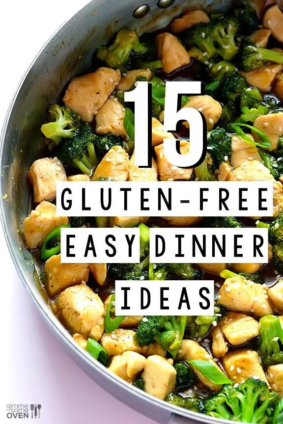 15 Gluten Free Easy Dinner Ideas | gimmesomeoven.com #dinner #recipe #glutenfree #gf