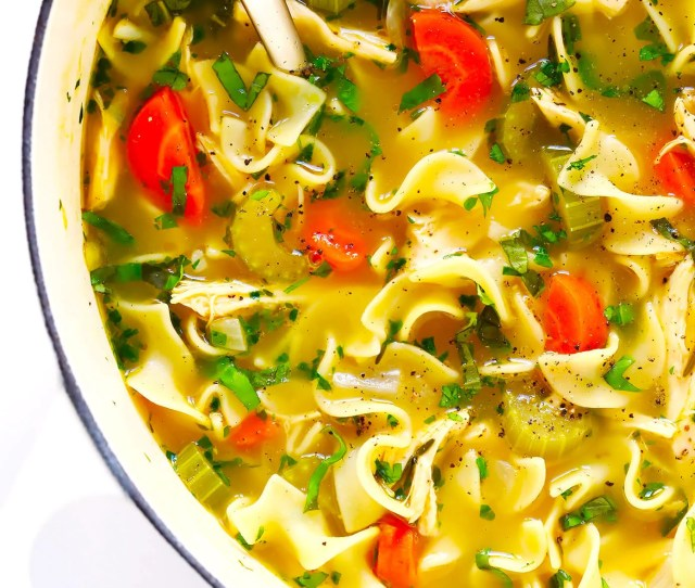 Herb Loaded Chicken Noodle Soup