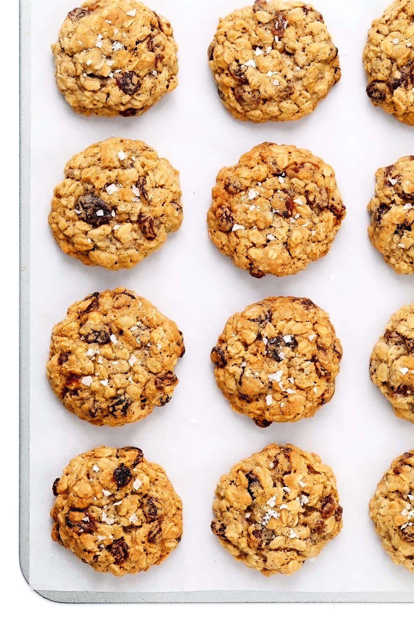 Oatmeal Cookies on Sheet Pan