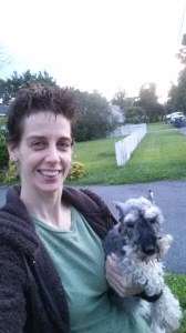 Me and one of my Schnauzers.