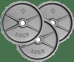peso 3 discos de 20 kilos