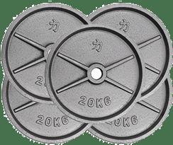 5 discos de 20 kilos