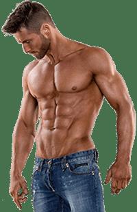 hombre musculado de gimnasio