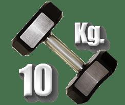 peso 10 Kg mancuerna