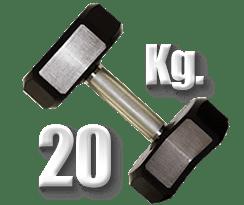 peso 20 Kg mancuerna