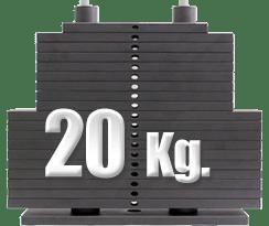 peso 20 kilos en polea baja