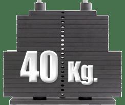 peso 40 kilogramos polea alta gimnasio