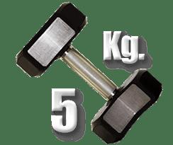 peso 5 Kg mancuerna