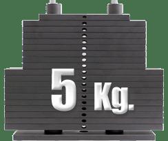 peso 5 kilogramos polea baja