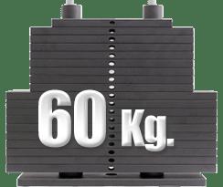 peso 60 kilogramos polea alta gimnasio