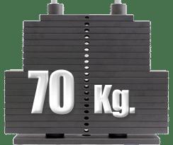 peso 70 kilos máquina